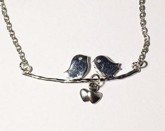 Bird Necklace Women's Necklace Anniversary Love Sparrow Necklace Mother Necklace Anniversary Gift Women's Gift