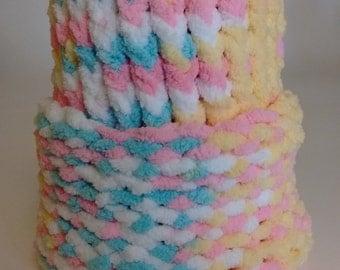 Preemie/Newborn Knit Cap kn Yellow Pink Blue White