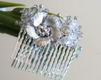 Wedding Hair Comb, handmade with Vintage jewelry, Bridal Hair Comb, Bridal Jewelry, Wedding Jewelry, Hair Comb, Jeweled Comb, Gift For Her