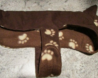 X-Small Brown Corduroy with Fleece Lining