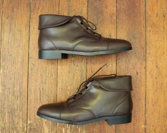 Vintage 7.5 Women's Dark Brown Prima Royale ankle boots