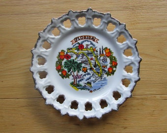 Florida State Souvenir Plate