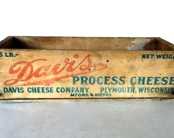 Vintage cheese box