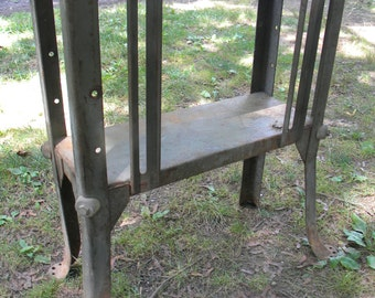 vintage 1950s or so mid century STEEL INDUSTRIAL age STAND or table base