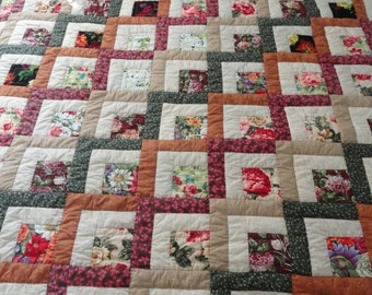 Hand Quilted 84x96 Scrap Quilt by Karrirose