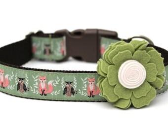 "Felt Dog Collar Flower Add-on For Dog Collar FOR 1"" BUCKLE COLLAR"