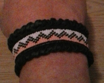 Loomed Miyuki Seed Bead Cuff Bracelet - Beaded Cuff Bracelet - Hand Made Native Cuff - Made in the USA - Elusive Wolf