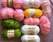 "Knitting Yarn ""Deborah Norville"" collection in pink, yellow and green in Acrylic"