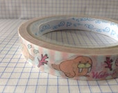 ONLY 1 ROLL stock , Sea Animals - Cute Tape , Decor Tape