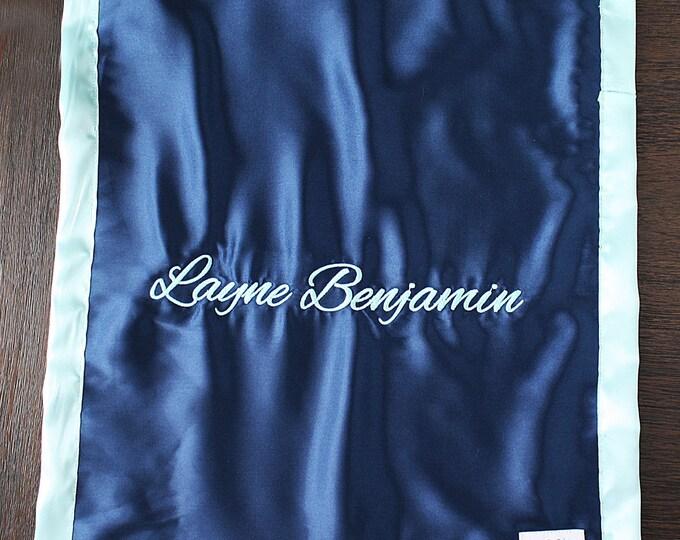 Embroidered Minky Blanket, lovie blanket, baby boy, personalized blanket, Blanket with name, Personalized baby blanket, sensory gift