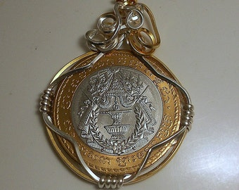 Cambodia Vintage Coin Pendant 1994