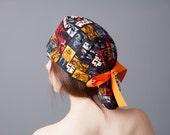 Surgery Hat, Scrub cap, Ponytail Scrub cap, Surgery cap~ Star Wars The Force Awakens