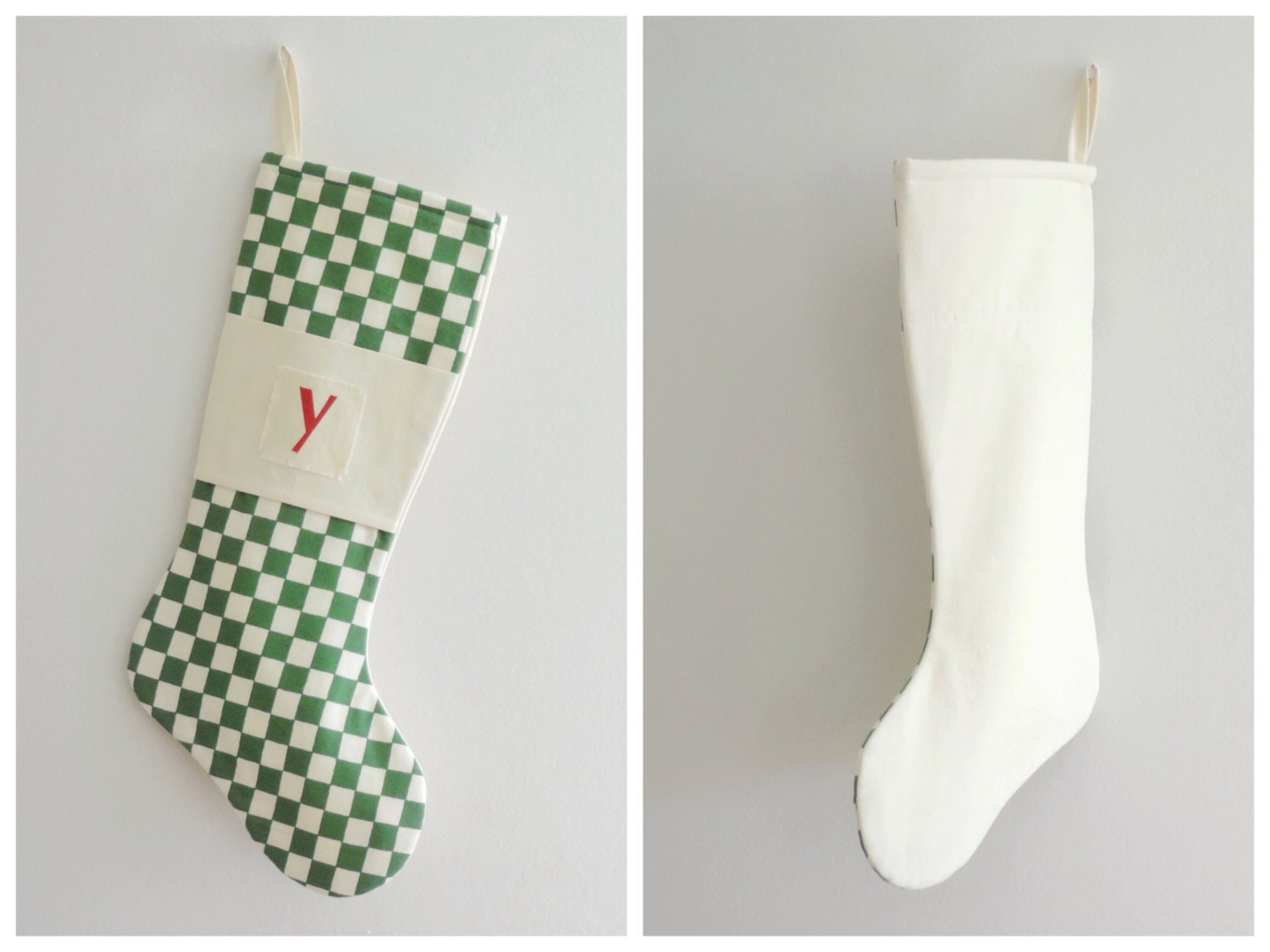 modern christmas stocking personalized by goodwishesquilts