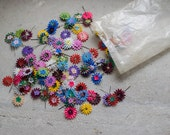 French Millinery Flowers // 1960 Flower Decorations for Sewing or Scrapbooking