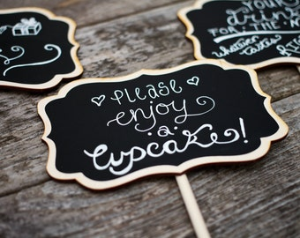 Small Chalkboard Signs for Weddings,  Small Chalkboard Sign Table Numbers, 4 x 6 LISA