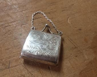 Sterling Silver Purse Charm Pendant