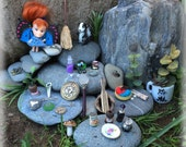 Fairy doll with Accessories in wooden case // Fairy Garden