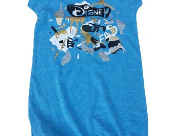 SALE 18m- Girls- The Picasso Romper | blue | one of a kind | unique | special | kids clothes | toddler clothes | Eclectic