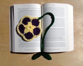 Flower Bookmark - Purple and Yellow