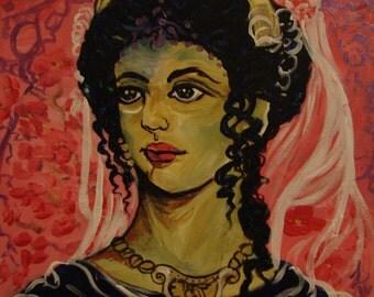 Hera Teleia 9x9 acrylic painting