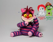RESERVED for Adele E. Chester. Cheshire Cat Voodoo Doll. Hand Sculpted Polymer Clay Figurine
