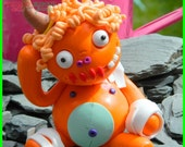 Hornabella Pasta . Clumzie Zombie Doll. Hand Sculpted polymer clay figurine