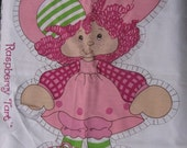 vintage raspberry tart printed  cut and sew pillow panels  1981 american greetings 20 inches tall