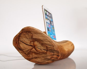 iPhone charging station - iPod touch Dock - iPhone wooden dock - for iPhone 5 / 5C / 5S / 6 / 6+ / 6S / 6S+ / 7 / 7+