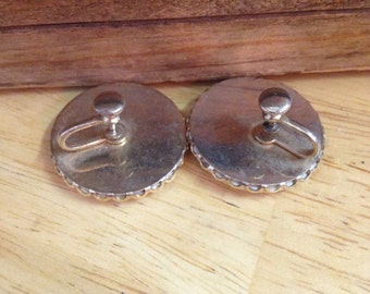 Vintage Square Dancer Earrings