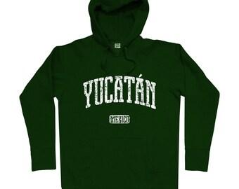 Yucatan Mexico Hoodie - Men S M L XL 2x 3x - Yucatan Hoody, Sweatshirt, Mexican, Merida, Chichen Itza, Valladolid, Kanasin - 4 Colors