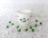 Carrigaline Pottery shamrock shot glass, Irish souvenir, St. Patric's Day, collectible, Cork Ireland