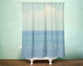 Ocean Shower Curtain for Bathroom Beach Decor