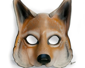 Leather Coyote Mask
