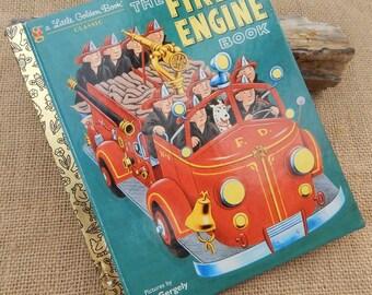 3.00 Sale  ~  The Fire Engine Book ~  Little Golden Book