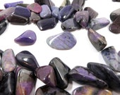 Sugilite Tumbled Stones 4 Polished Natural Purple Crystals 14mm - 20mm (Lot SUG02)