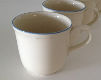 Vintage Anchor Teacup Coffee Cups Set of 4 Stoneware Dinnerware Made in Japan Teacup Coffee Cup