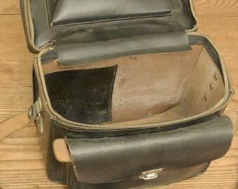Genuine leather camera gadget bag