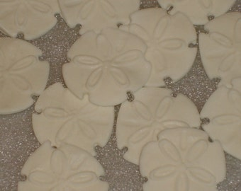 Gumpaste Sand Dollar Edible Cup Cake Toppers, Cookies, Cake Pop Decorations