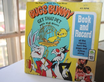 Book and Record, Bugs Bunny Get That Pet, Mel blanc, 45 Speed