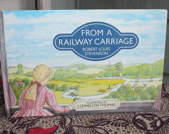 Vintage Children's Book From A Railway Carriage By Robert Louis Stevenson Copyright 1993 Nearly Perfect Condition Color Illustrations