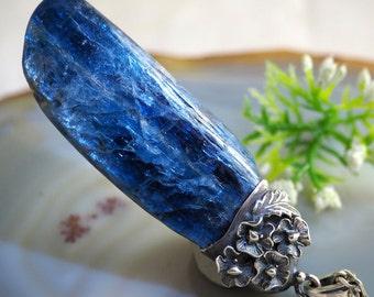 Kyanite Pendant Blue Kyanite Necklace Sterling Silver Jewelry
