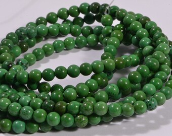 Turquoise Full Strand Beads 5.9 mm Natural Gemstone Beads Jewelry Making Supplies