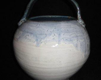 round blue, basket vessel
