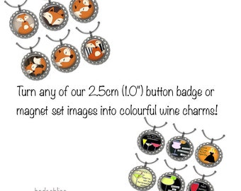 Wine glass charms - choose your images.