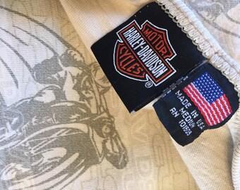 Vintage HARLEY DAVIDSON tshirt / Vintage Harley / Vintage motorcycle tshirt / Harley Tshirt / Crop Top / Harley / Harley Davidson