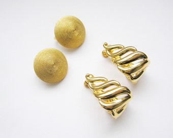 Trifari and Napier Earrings two pair- come in a gift box!