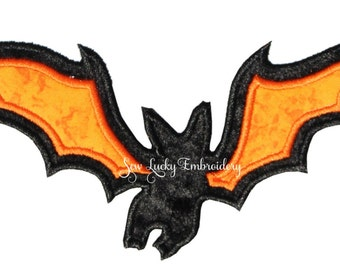 Bat Applique Embroidered Patch , Sew or Iron on