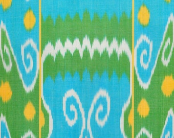 Sale! Ikat Fabric, Ikat Fabric by the yard, Hand Woven Fabric , F-A401