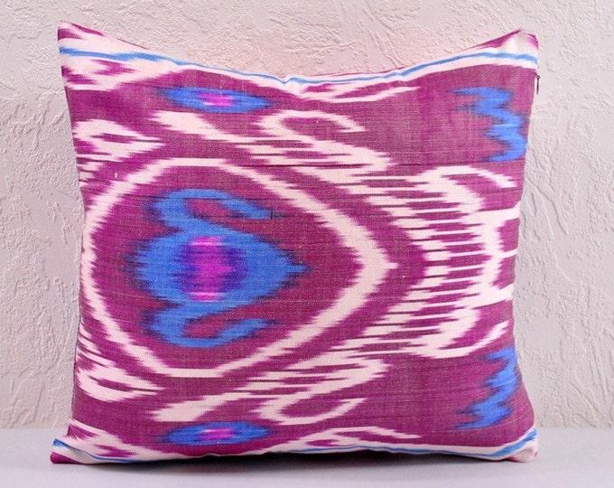 Ikat Pillow, Hand Woven Ikat Pillow Cover a402-1ab1, Ikat throw pillows, Designer pillows, Ikat Pillows, Decorative pillows, Accent pillows