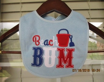Beach Bum Boy Bib
